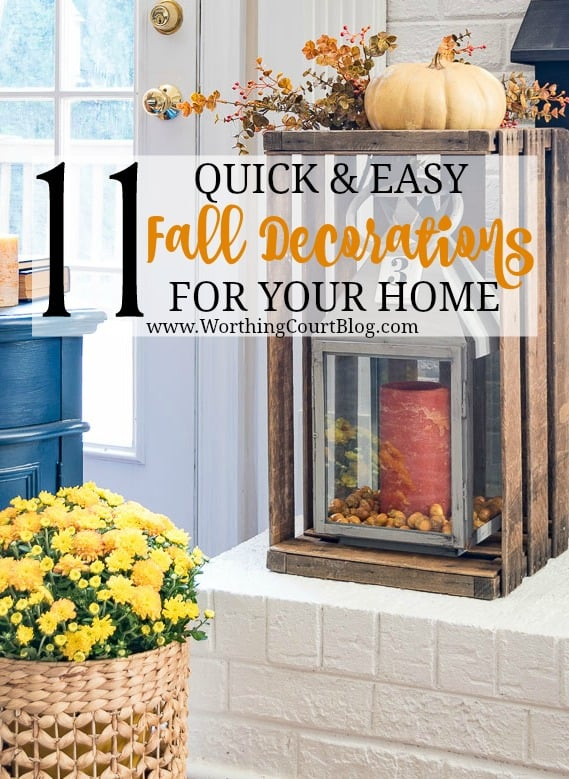 Are you ready to bring out your fall decorations, but don't know where to start?  These eleven inspiring ideas will get your creative fall juices flowing! || Worthing Court