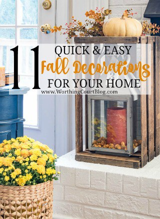 11 quick and easy fall decorations for your home