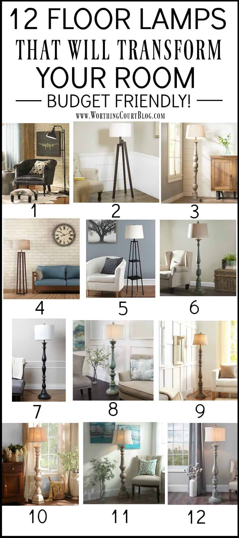 12 Budget Friendly Floor Lamps || Worthing Court