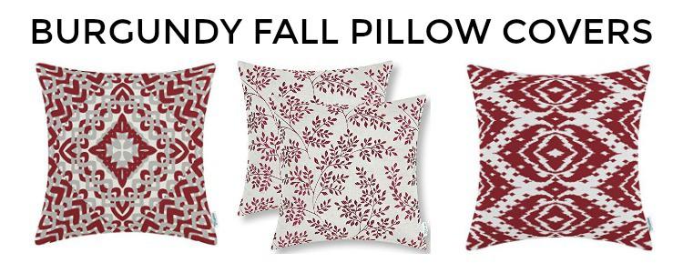 Great assortment of burgundy fall throw pillow covers #falldecor #pillows || Worthing Court