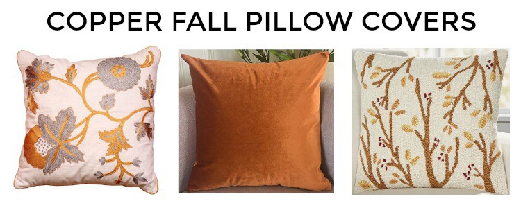 Great assortment of copper fall throw pillow covers #falldecor #pillows || Worthing Court
