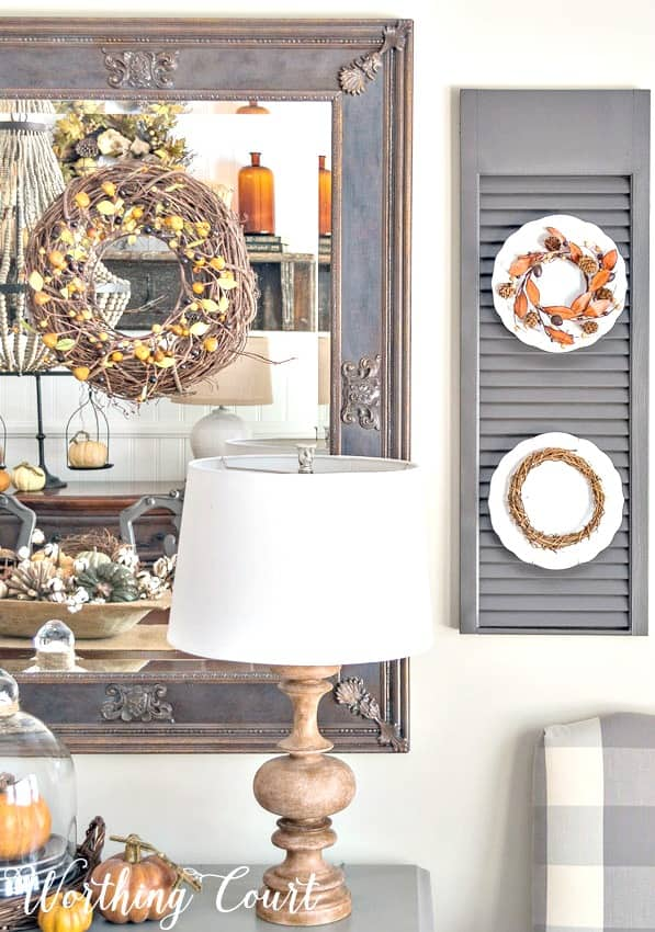 Fall dining room decor #Autumn #Fall #FallDecor #Farmhouse - Worthing Court