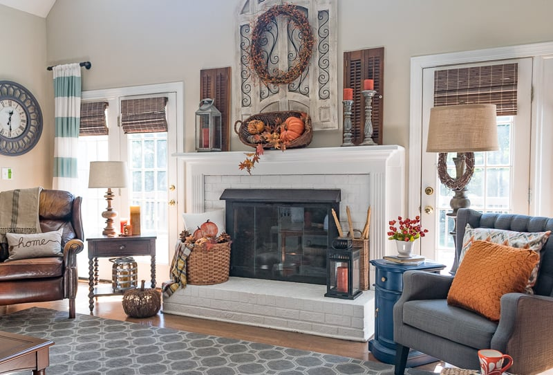 Get Inspired By My Easy Fall Family Room Decor