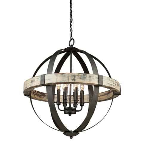 Costello Orb Rustic Chandelier from Lighting Connection