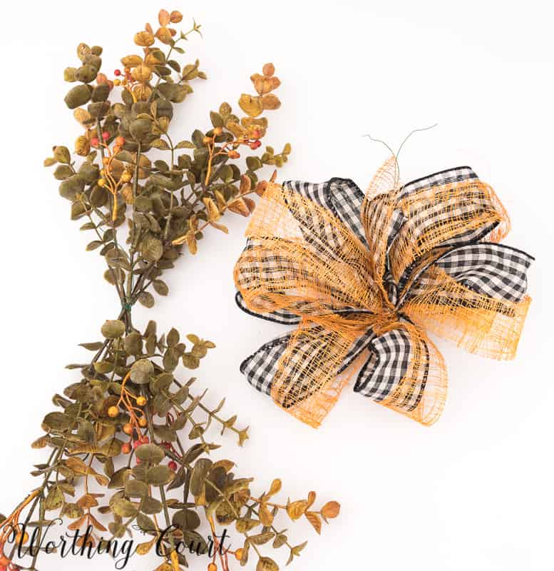 How To Make A Fall Hoop Wreath #FallWreath #Autumn #FallDecor #DIY - Worthing Court