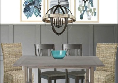 A Modern Farmhouse Style Dining Room Makeover In Our Beach Condo