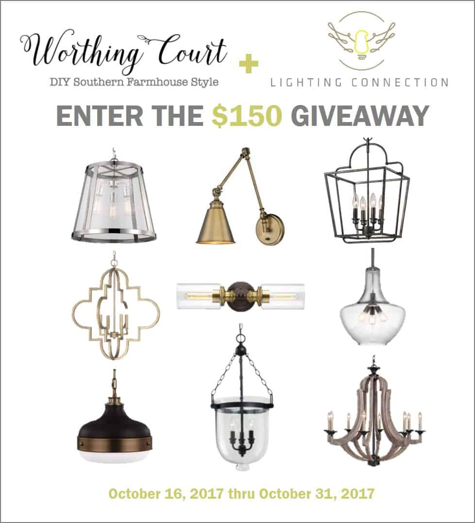 $150 Giveaway from Lighting Connection || Worthing Court