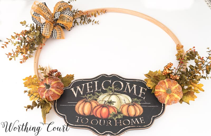 Directions for how to make an embroidery hoop wreath #FallWreath #HoopWreath #DIY - Worthing Court