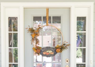 A New Kind Of Fall Wreath And How To Make One
