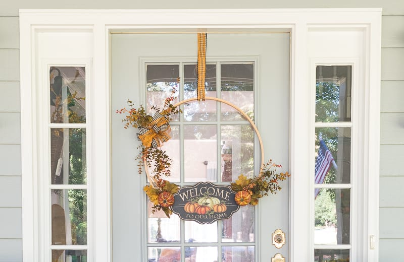 How To Make A Fall Hoop Wreath || Worthing Court