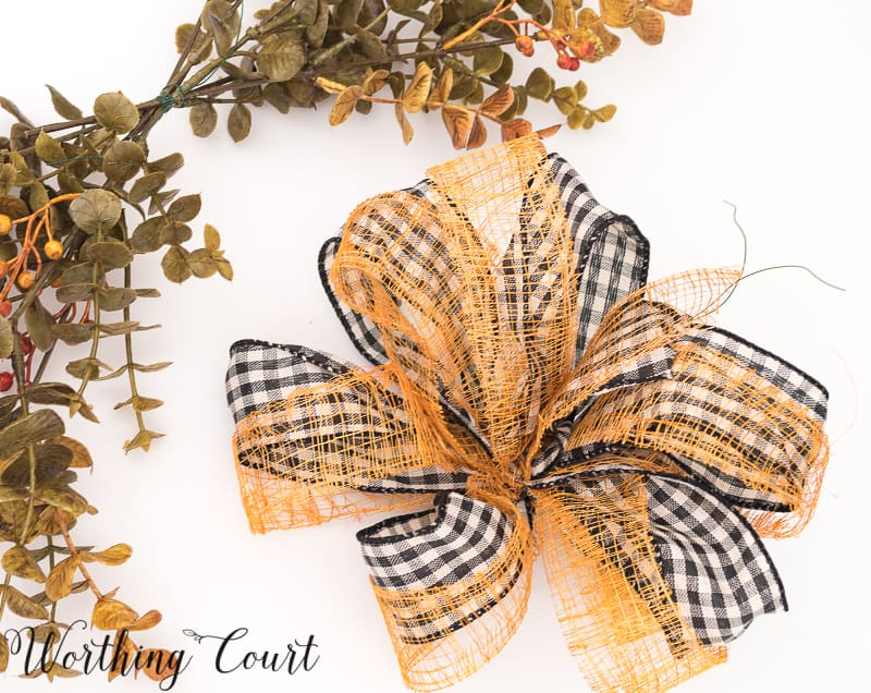 DIY fall bow #Ribbon #Bow - Worthing Court