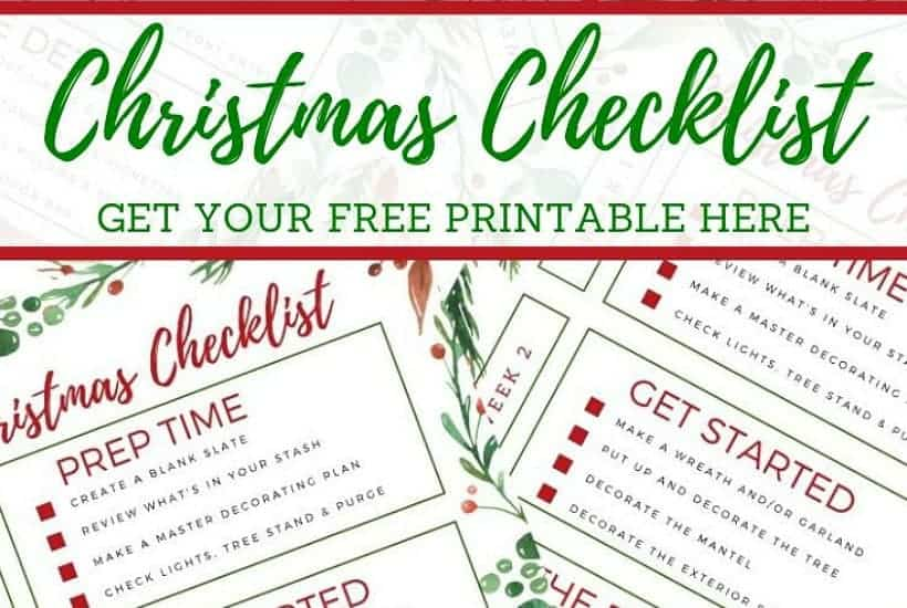 piinterest graphic for Christmas decorating timeline