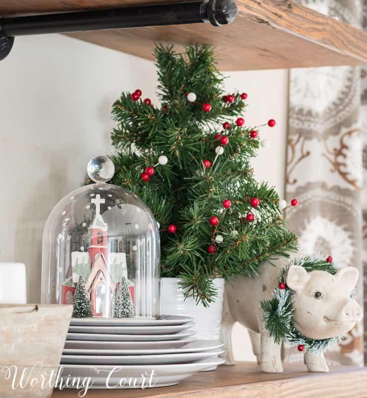 Christmas vignette #christmas #christmasdecorations