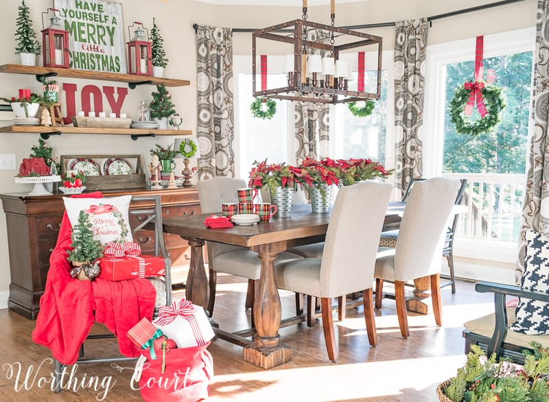 celebrating a nostalgic christmas in my breakfast room christmas christmasdecor breakfastroom - Nostalgic Christmas Decorations