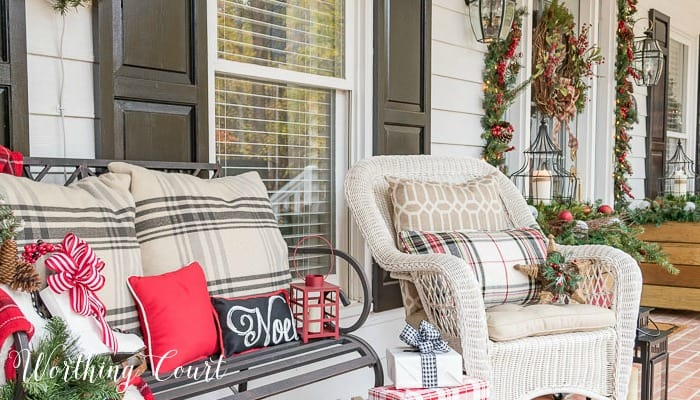 How To Decorate A Small Front Porch For Christmas