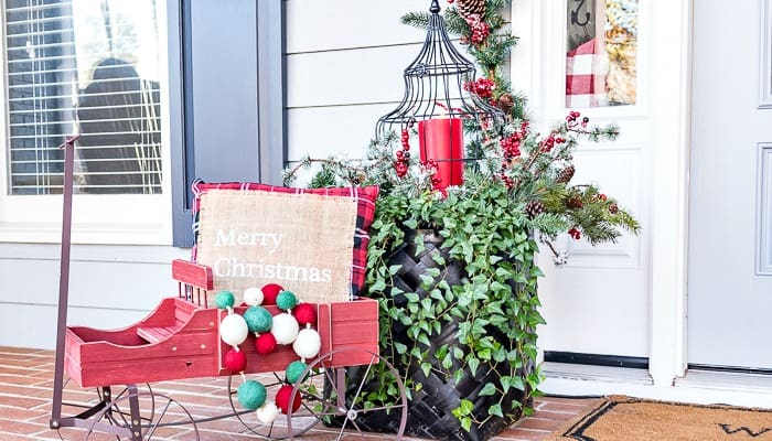Welcome To My Festive And Cheery Christmas Front Porch