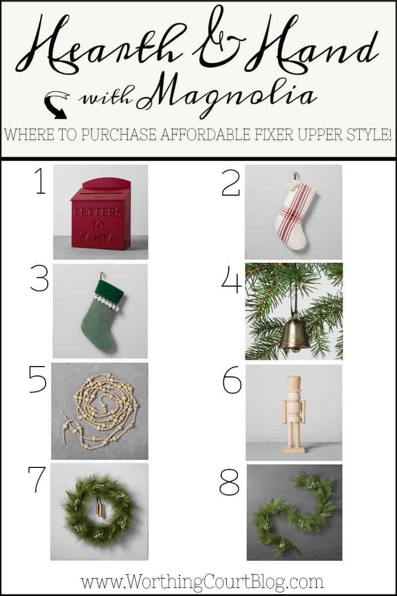 Where to purchase affordable Fixer Upper style Christmas decorations #Christmasdecor #Chrismtas #fixerupper