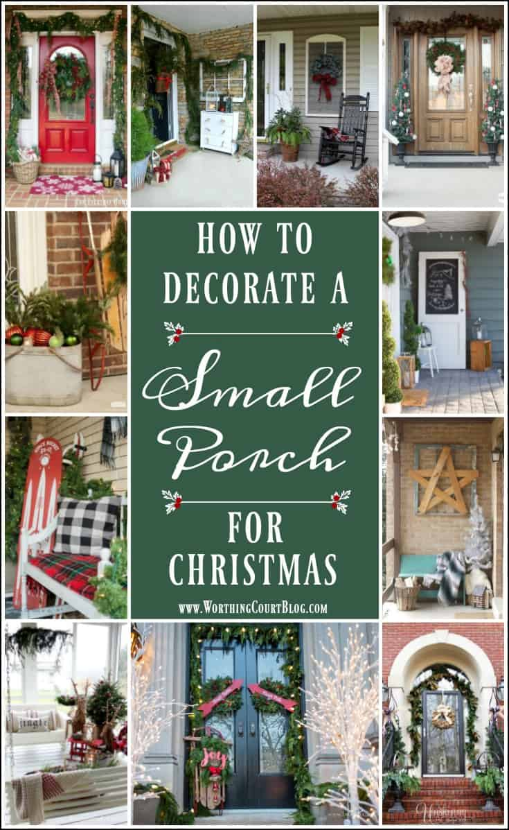 How To Decorate A Small Front Porch For Christmas #Christmas #ChristmasDecor #ChristmasDecoratingIdeas