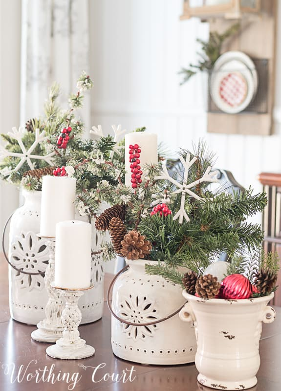Christmas centerpiece #christmasdecor #christmascenterpieces