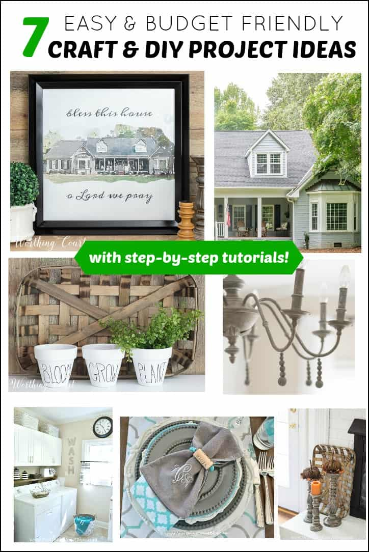pinterest image for 7 craft and diy project tutorials