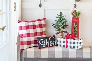My Festive Farmhouse Christmas Foyer