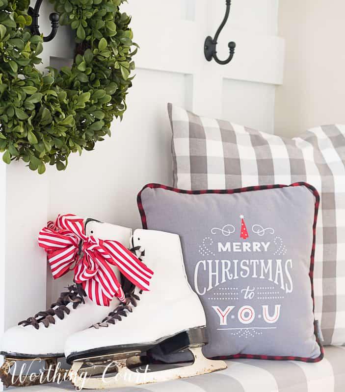 Christmas vignette #christmasdecor