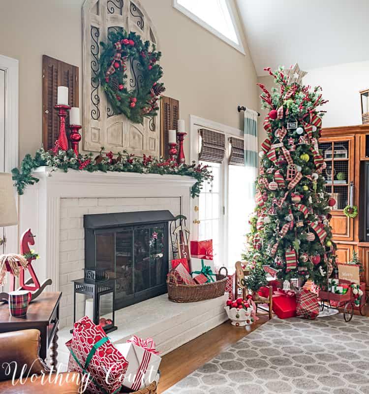 family room christmas decorations #christmas
