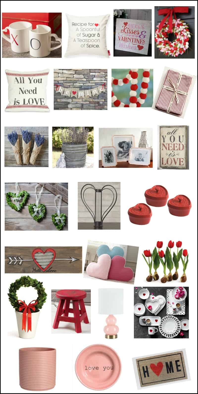 Valentine's Day decorations, farmhouse decor