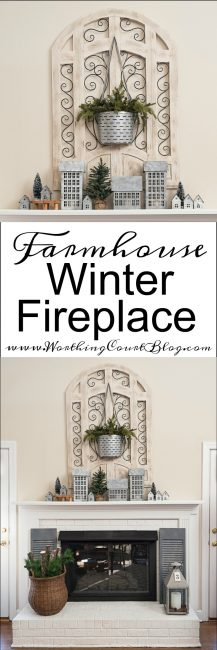 My Farmhouse Winter Fireplace graphic.