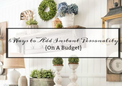 6 Easy Ways To Add Instant Personality To A Room On A Budget