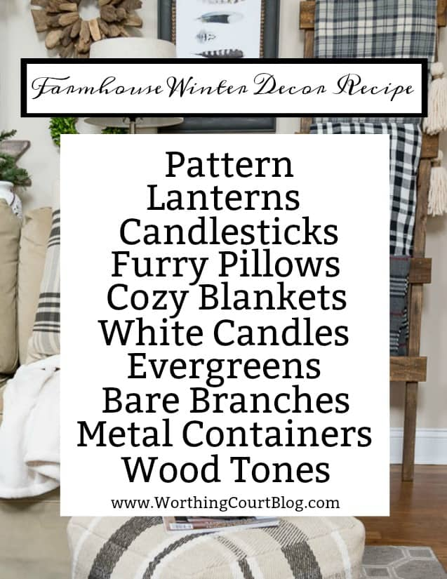 Easy recipe for winter decorating in your home #winter #winterdecor.