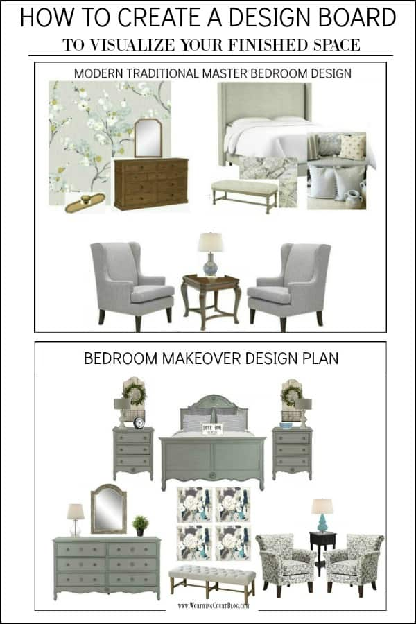 bedroom design board examples