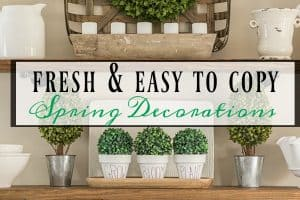 Fresh And Easy To Copy Spring Decorations In My Breakfast Room