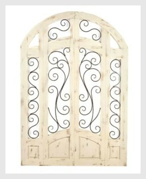 Distressed Ivory Grand Gate Plaque from Kirkland's