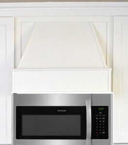 Idea for a non functioning hood above a microwave #rangehood #kitchenremodel #kitchenmakeover #diy