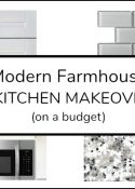 Help! My Small Kitchen Is Ugly. Now What? #kitchenmakeover #modernfarmhouse #galleykitchen #budgetmakeover