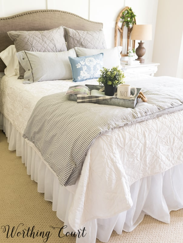 Fixer Upper farmhouse style bedding #fixerupper #bedding #farmhouse