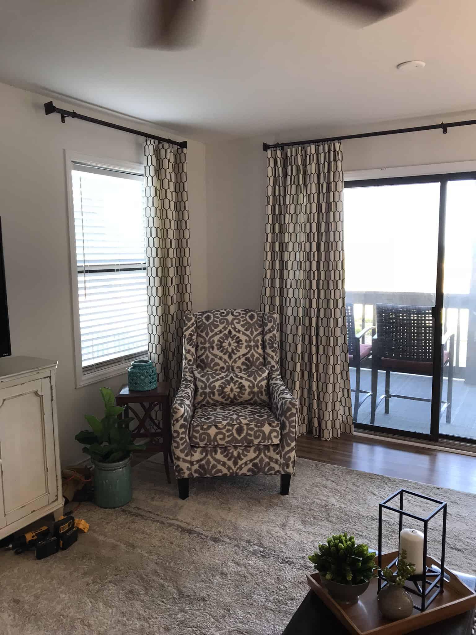 DIY drapery panels
