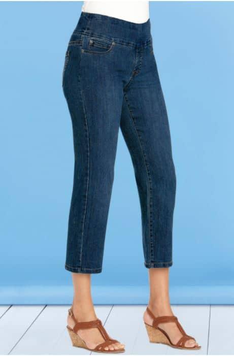 Comfort Waist Cropped Pants