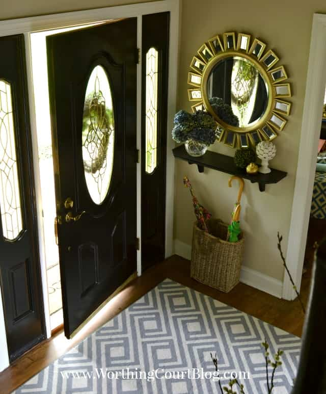 Foyer Decor Work : Entryway makeover reveal how to work with what you have