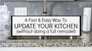 Need A Backsplash?  You Have To Try This!