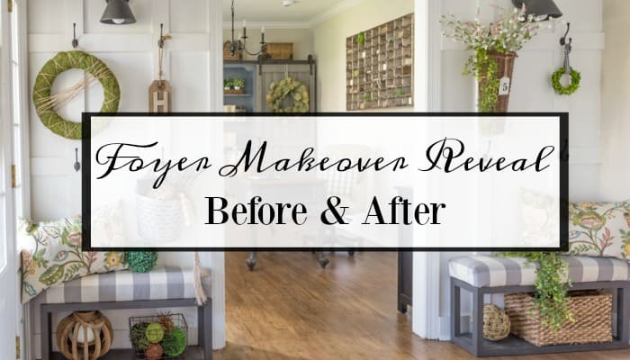 Entryway Makeover Reveal - How To Work With What You Have