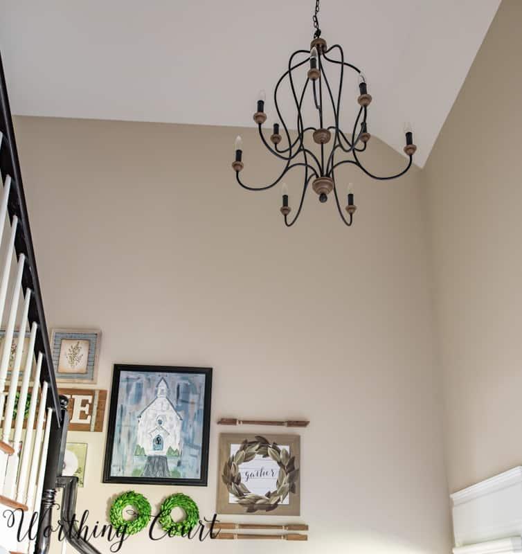 Two story foyer chandelier #entrywaylighting #entrywayideas #entrywaychandelier #foyerlighting #foyerideas #foyerchandelier #chadelierideas