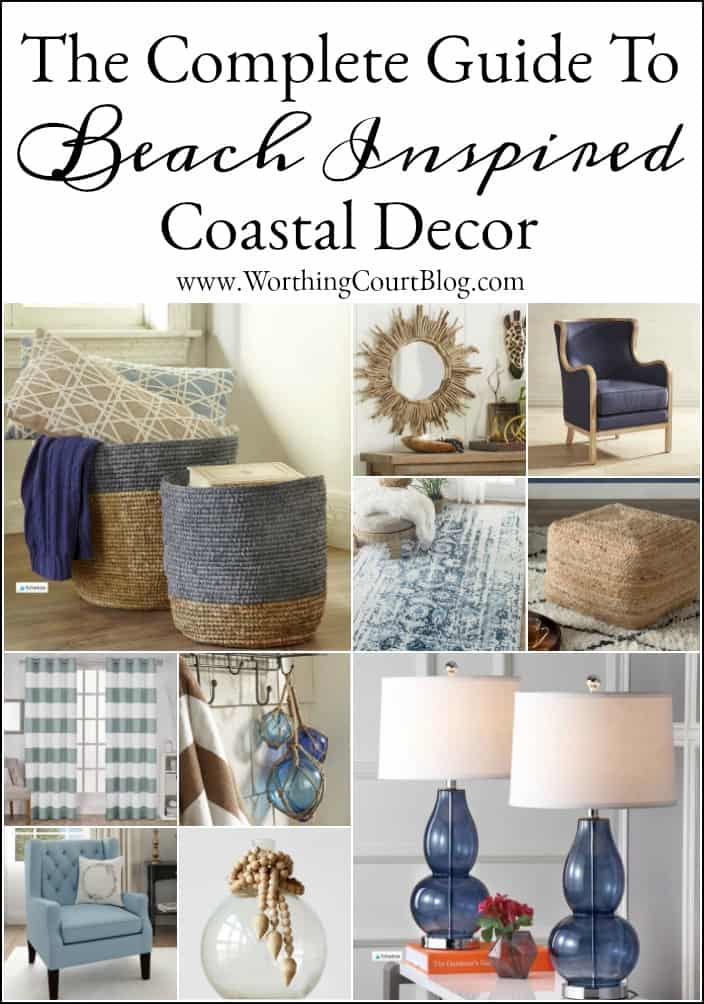 How To Get The Feel Of Being At The Beach The complete shopping guide for beach inspired coastal decor on a budget. #coastaldecoeatingideas #coastaldecor #beachdecor #coastaldecoratingonabudget #coastaldecoratingcolors #nauticaldecor