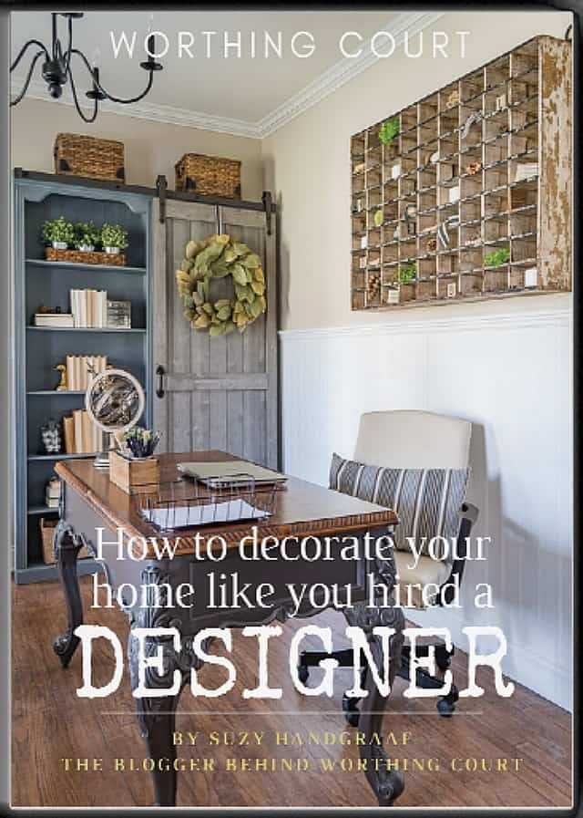 Free E-Book: How To Decorate Your Home Like You Hired A Designer. A wonderful e-book filled with beautiful photography and filled with tips for how to decorate your home just like you hired a designer. #decoratingtips #howtodecorate #interiordesignideas #decoratingideas #WorthingCourtBlog