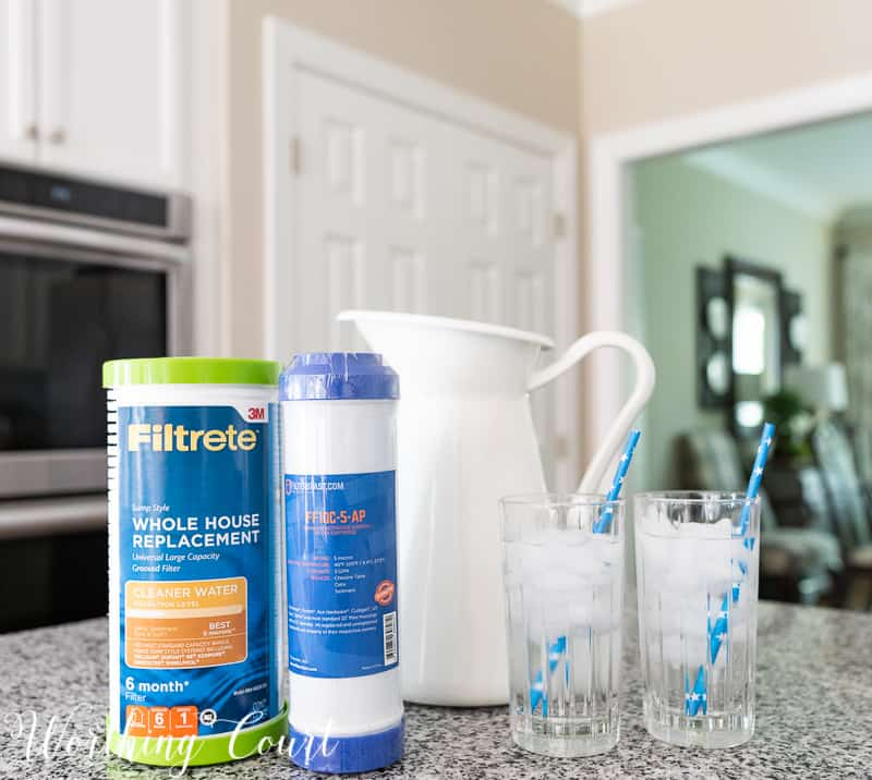 Replacing my whole house and under the kitchen sink water filters is at the top of my things to do every 3 months! Every type of water filter needed for your home and refrigerator can be found at FiltersFast. Join their Home Filter Club for 5% off of every order! #waterfilters #summerhomemaintenance #checklist #cleanwater