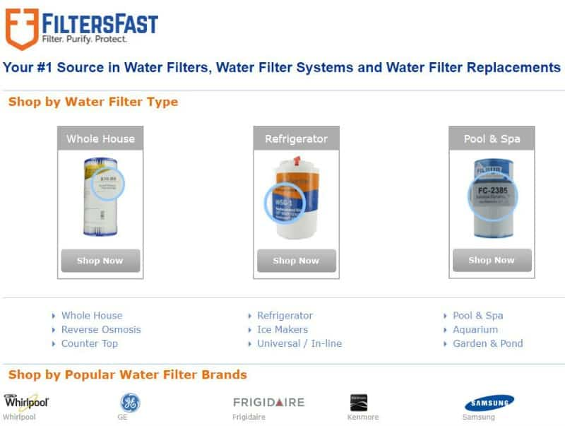 Every type of water filter needed for your home and refrigerator can be found at FiltersFast. Join their Home Filter Club for 5% off of every order! #waterfilters #summerhomemaintenance #checklist #cleanwater