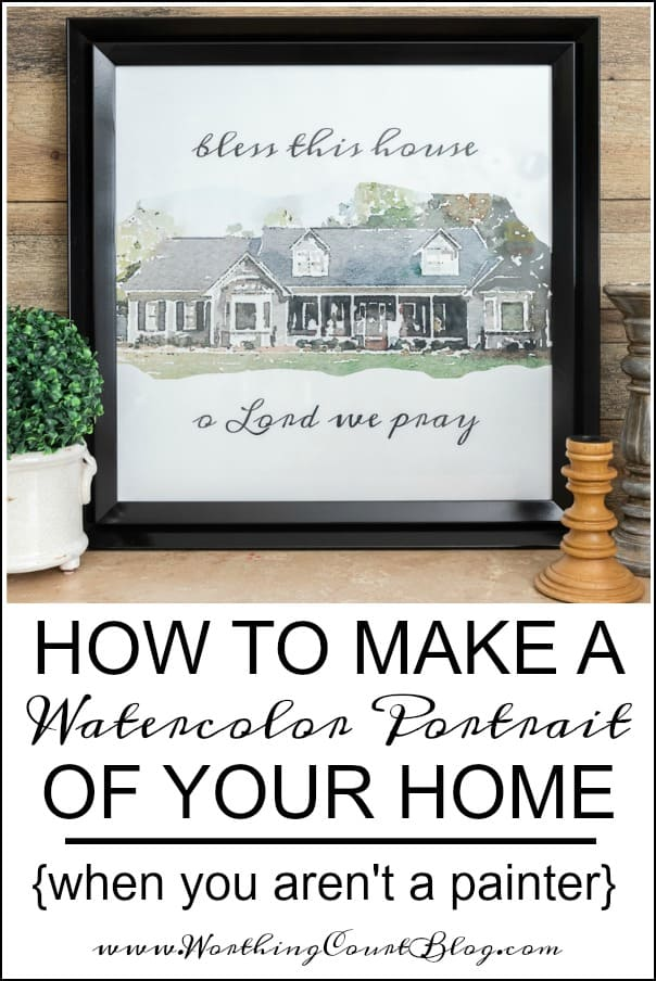 How To Make A Watercolor Portrait Of Your Home When You Aren't A Painter #watercolor #WorthingCourtBlog #watercolortechniques #watercolorpainting #watercolortutorial #watercolorart #watercolorideas