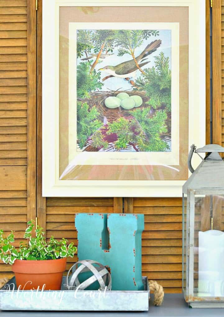 How to waterproof outdoor artwork #waterproof #weatherproof #outdoors #porchideas
