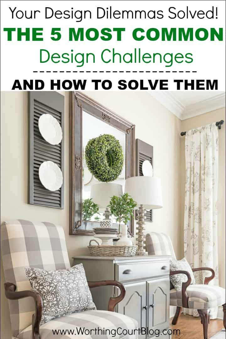 Tips for how how to decorate and solve the 5 most common design challenges